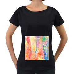 Watercolour Watercolor Paint Ink Women s Loose Fit T Shirt (black)