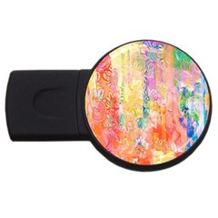 Watercolour Watercolor Paint Ink USB Flash Drive Round (4 GB)