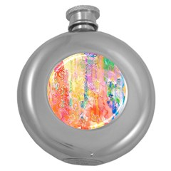 Watercolour Watercolor Paint Ink Round Hip Flask (5 Oz)