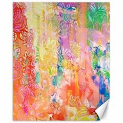 Watercolour Watercolor Paint Ink Canvas 16  x 20