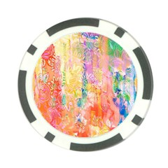 Watercolour Watercolor Paint Ink Poker Chip Card Guard