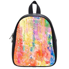 Watercolour Watercolor Paint Ink School Bags (Small)