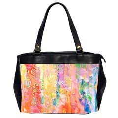 Watercolour Watercolor Paint Ink Office Handbags (2 Sides)