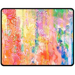 Watercolour Watercolor Paint Ink Fleece Blanket (Medium)