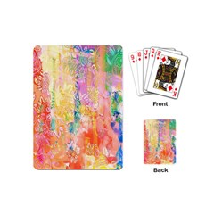 Watercolour Watercolor Paint Ink Playing Cards (mini)