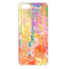 Watercolour Watercolor Paint Ink Apple iPhone 5 Seamless Case (White)