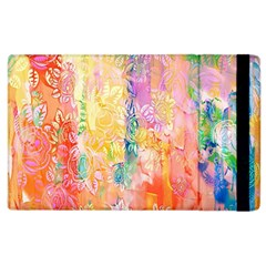 Watercolour Watercolor Paint Ink Apple iPad 2 Flip Case