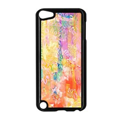 Watercolour Watercolor Paint Ink Apple iPod Touch 5 Case (Black)