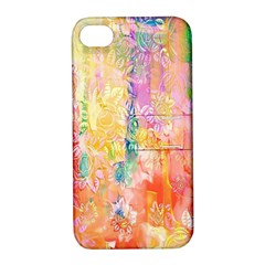 Watercolour Watercolor Paint Ink Apple Iphone 4/4s Hardshell Case With Stand