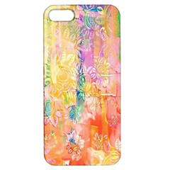 Watercolour Watercolor Paint Ink Apple Iphone 5 Hardshell Case With Stand