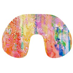 Watercolour Watercolor Paint Ink Travel Neck Pillows