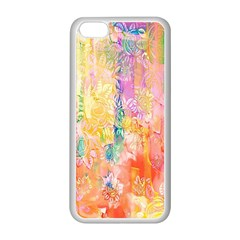 Watercolour Watercolor Paint Ink Apple Iphone 5c Seamless Case (white)