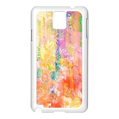 Watercolour Watercolor Paint Ink Samsung Galaxy Note 3 N9005 Case (white)