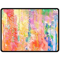 Watercolour Watercolor Paint Ink Double Sided Fleece Blanket (Large)