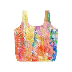 Watercolour Watercolor Paint Ink Full Print Recycle Bags (S)