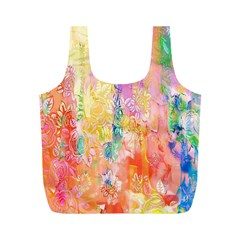Watercolour Watercolor Paint Ink Full Print Recycle Bags (m)