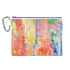 Watercolour Watercolor Paint Ink Canvas Cosmetic Bag (L)