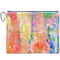Watercolour Watercolor Paint Ink Canvas Cosmetic Bag (xxxl)