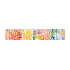 Watercolour Watercolor Paint Ink Flano Scarf (Mini)