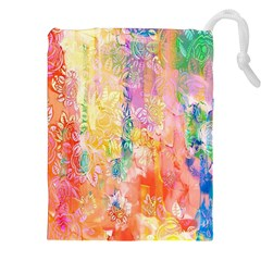 Watercolour Watercolor Paint Ink Drawstring Pouches (XXL)
