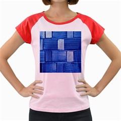 Wall Tile Design Texture Pattern Women s Cap Sleeve T Shirt
