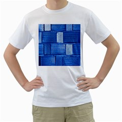 Wall Tile Design Texture Pattern Men s T Shirt (white) (two Sided)