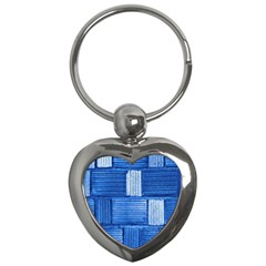 Wall Tile Design Texture Pattern Key Chains (heart)