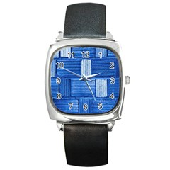 Wall Tile Design Texture Pattern Square Metal Watch
