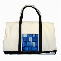 Wall Tile Design Texture Pattern Two Tone Tote Bag