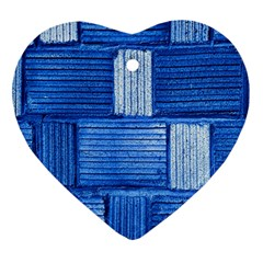 Wall Tile Design Texture Pattern Heart Ornament (Two Sides)