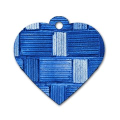 Wall Tile Design Texture Pattern Dog Tag Heart (One Side)