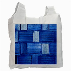 Wall Tile Design Texture Pattern Recycle Bag (Two Side)