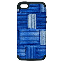 Wall Tile Design Texture Pattern Apple Iphone 5 Hardshell Case (pc+silicone)