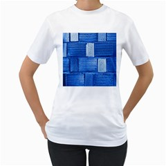 Wall Tile Design Texture Pattern Women s T Shirt (white)