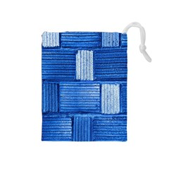 Wall Tile Design Texture Pattern Drawstring Pouches (medium)