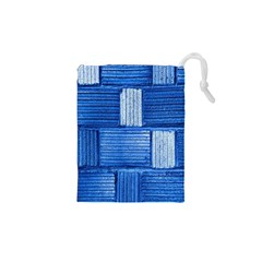 Wall Tile Design Texture Pattern Drawstring Pouches (xs)