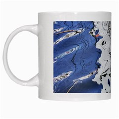 Water Reflection Abstract Blue White Mugs