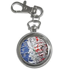 Water Reflection Abstract Blue Key Chain Watches