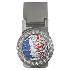 Water Reflection Abstract Blue Money Clips (CZ)