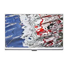 Water Reflection Abstract Blue Business Card Holders