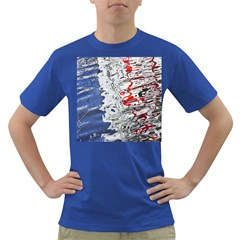 Water Reflection Abstract Blue Dark T-Shirt