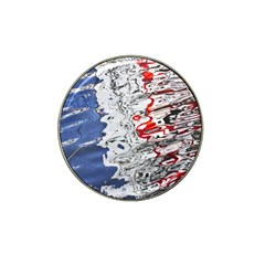 Water Reflection Abstract Blue Hat Clip Ball Marker (4 pack)