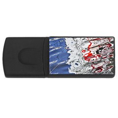 Water Reflection Abstract Blue USB Flash Drive Rectangular (4 GB)