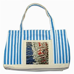Water Reflection Abstract Blue Striped Blue Tote Bag