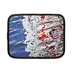 Water Reflection Abstract Blue Netbook Case (small)