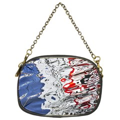 Water Reflection Abstract Blue Chain Purses (one Side)