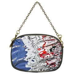 Water Reflection Abstract Blue Chain Purses (Two Sides)