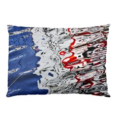 Water Reflection Abstract Blue Pillow Case