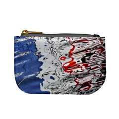 Water Reflection Abstract Blue Mini Coin Purses