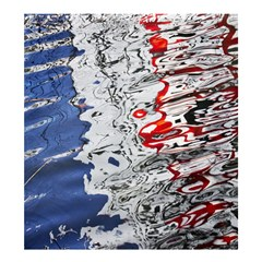 Water Reflection Abstract Blue Shower Curtain 66  x 72  (Large)